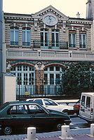 "Paris: Zone d'Action Concertee, old building. This lovely little municipal building of 1898-- a ""creche municipal""--would have been leveled under the 1973 plan. See PROG. ARCH. JULY 1987. Photo '90."