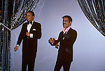 Wax Figures of Frank Sinatra and Sammy Davis Jr., The Wax Museum, Buena Park, CA, 1981