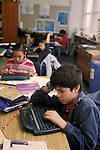 Berkeley, CA Students in fifth grade class writing compositions using Alphasmart word processors