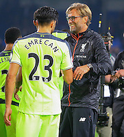 Emre Can of Liverpool and Manager Jurgen Klopp during the EPL - Premier League match between Crystal Palace and Liverpool at Selhurst Park, London, England on 29 October 2016. Photo by Steve McCarthy.