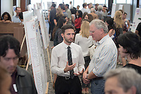 "Tal Medovoy '18 presents ""College Crowd Affiliation, Risk Behavior and Socio-Emotional Well-Being""<br /> Occidental College's Undergraduate Research Center hosts their annual Summer Research Conference on Aug. 4, 2016. Student researchers presented their work as either oral or poster presentations at the final conference. The program lasts 10 weeks and involves independent research in all departments.<br /> (Photo by Marc Campos, Occidental College Photographer)"