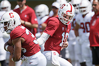 Stanford, CA - April 13, 2019: Jack West during the Spring Football game at Cagan Stadium on Saturday.<br /> <br /> The Defense won 20-14.