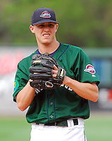 6 May 2007: Travis Beasley from a game between the Greenville Drive, Class A affiliate of the Boston Red Sox, and the Augusta GreenJackets at West End Field in Greenville, S.C. Photo by:  Tom Priddy/Four Seam Images