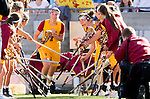 Los Angeles, CA 02/09/13 - Amanda Johansen (USC #7) takes the field for USC's inaugural game against Northwestern.