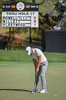 Danny Willett (ENG) sinks his putt on 18 during round 1 of the Arnold Palmer Invitational at Bay Hill Golf Club, Bay Hill, Florida. 3/7/2019.<br />