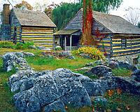 Mill & Cabins, Cyrus McCormick Farm, Virginia