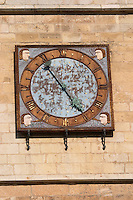 clock on cathedral santa maria de regla , Leon spain castile and leon