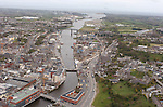 Ariel of the river boyne drogheda town centre..Picture Fran Caffrey Newsfile