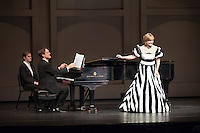 Opera mezzo-soprano Frederica von Stade performs with Jake Heggie on piano, March 4, 2010 in Thorne Hall at Occidental College. (Photo by Marc Campos, Occidental College Photographer)