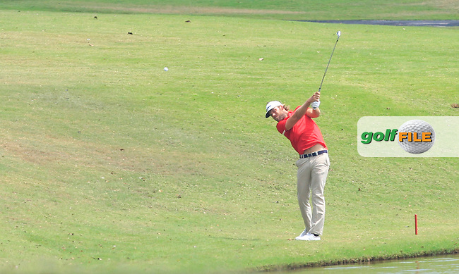 Johan Carlsson (SWE) on the 7th fairway during Round 4 of the True Thailand Classic at the Black Mountain Golf  Club on Sunday 15th February 2015.<br /> Picture:  Thos Caffrey / www.golffile.ie