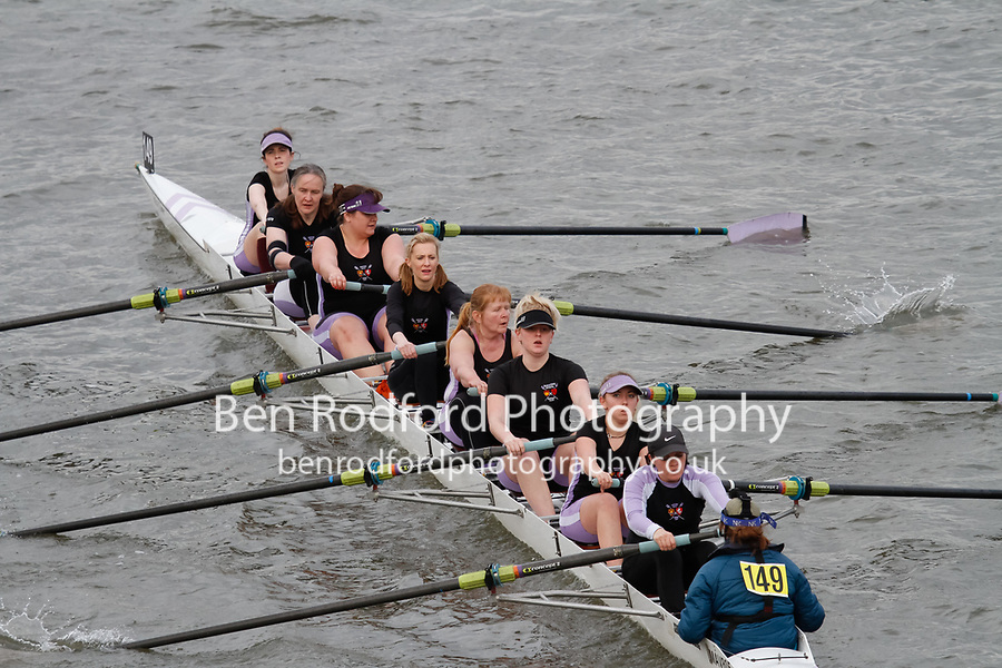 Crew: 149 Maidstone Invicta Rowing Club B<br /> <br /> Women's Head of the River (WeHoRR) 2017<br /> <br /> To purchase this photo, or to see pricing information for Prints and Downloads, click the blue 'Add to Cart' button at the top-right of the page.