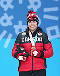 Pyeongchang, Korea, 14/3/2018- Alana Ramsay  receive medals at the 2018 Paralympic Games in PyeongChang. Photo Scott Grant/Canadian Paralympic Committee.