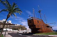 Spanien, Kanarische Inseln, La Palma,  Santa Cruz, Schiff des Columbus S.Maria im Museo Navale