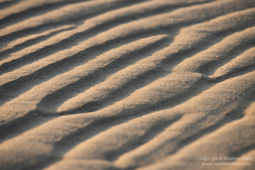 4 Mile Beach, Port Douglas, Australia; textures in the sand throw shadows in the early morning sunlight