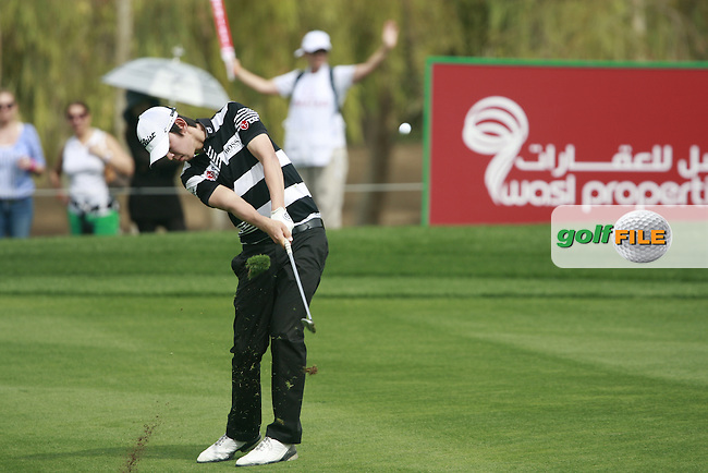 Seung-yul Noh (KOR) in action on the 17th hole during Thursday's Round 1 of the 2012 Omega Dubai Desert Classic at Emirates Golf Club Majlis Course, Dubai, United Arab Emirates, 9th February 2012(Photo Eoin Clarke/www.golffile.ie)