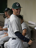 June 22, 2004:  Jeremy Reed of the Charlotte Knights, International League (AAA) affiliate of the Chicago White Sox, during a game at Frontier Field in Rochester, NY.  Photo by:  Mike Janes/Four Seam Images