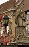 St. Johannes Nepomucenus, Patron Saint of Bridges, Pieter Pepers 1767, Nepomucenus Bridge, Wollestraat at Rozenhoedkaai Rose Hat Quay, Bruges, Brugge, Belgium
