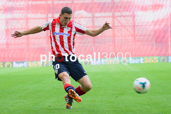 Football macht during La Liga BBVA.<br /> Athletic Club - Real Sociedad<br /> oskar de markos