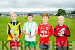 l-r  Liam Carmody, Player Of The Year, Cian Cooney, Golden Boot, Darragh Kinnane, Golden Boot and Richard Healy, Most Improved. at the St. Brendans Park Awards and Fun Day in Christy Leahy Park on Saturday