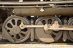 Essex, CT Steam Train excursion. Tangshan Locomotive Works. Driving wheels and connecting rods.