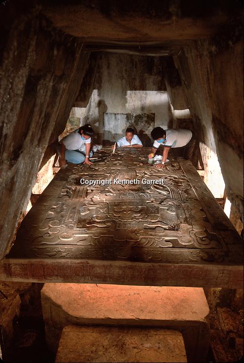 Ancient Cultures; Americas; Maya; Palenque; Mexico; Chiapas; Ruler; Pakal; Sarcophagus; Lid; Juan Antonio Valdes; Rudy Larios; Tomb