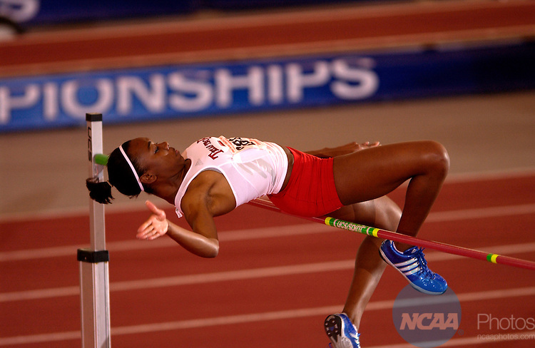 11 MAR 2006: Texas Tech's Tori Polk attacks the bar in the Women's High Jump Saturday evening at the 2006 NCAA Div I National Indoor Track and Field Championships held at the Randel Tyson Track Complex on the Univeristy of Arkansas Campus in Fayetteville, Ark.  Tom Ewart/NCAA Photos