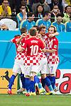 Croatia team group (CRO), JUNE 12, 2014 - Football / Soccer : Croatia players celebrate their 1st goal during the FIFA World Cup Brazil 2014 Group A match between Brazil 3-1 Croatia at Arena de Sao Paulo in Sao Paulo, Brazil. (Photo by Maurizio Borsari/AFLO)