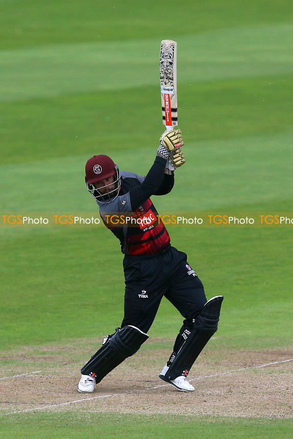 Peter Trego hits four runs for Somerset during Somerset vs Essex Eagles, Royal London One-Day Cup Cricket at The Cooper Associates County Ground on 14th May 2017