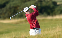 Chris Stroud of USA hits an approach during Round 3 of the 2015 Alfred Dunhill Links Championship at the Old Course, St Andrews, in Fife, Scotland on 3/10/15.<br /> Picture: Richard Martin-Roberts | Golffile