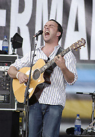 """PHILADELPHIA - JULY 2:  Singer Dave Matthews performs on stage at """"Live 8 Philadelphia"""" at the Philadelphia Museum of Art July 2, 2005 in Philadelphia, Pennsylvania. The free concert is one of ten simultaneous international gigs including London, Berlin, Rome, Paris, Barrie, Tokyo, Cornwall, Moscow and Johannesburg. The concerts precede the G8 summit (July 6-8) to raising awareness for MAKEpovertyHISTORY.  (Photo by William Thomas Cain/Getty Images)"""