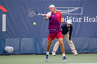 Washington, DC - August 3, 2019:  Lukasz Kubot (POL) in action during the  Men Doubles semi finals at William H.G. FitzGerald Tennis Center in Washington, DC  August 3, 2019.  (Photo by Elliott Brown/Media Images International)
