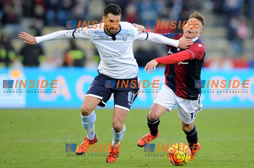 Antonio Candreva Lazio, Emanuele Giaccherini Bologna <br /> Bologna 17-01-2016 Stadio Dall'Ara Football Calcio Serie A 2015/2016 Bologna - Lazio Foto Insidefoto
