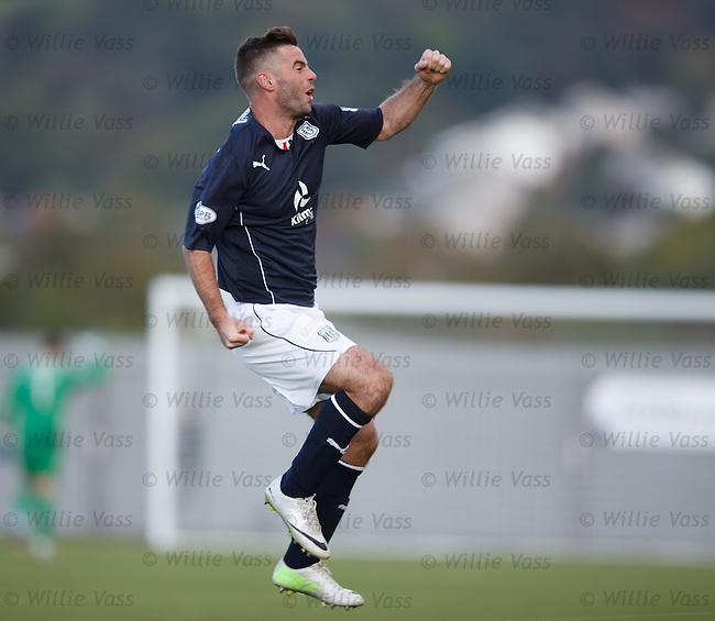 Peter MacDonald celebrates his goal