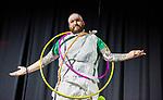 Jacob Hagman, School of Nursing's Academic Advisor, models his 'formal wear'.