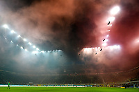 A general view of the stadium after Milan fans ignited smoke bombs <br /> Milano 09/02/2020 Stadio San Siro <br /> Football Serie A 2019/2020 <br /> FC Internazionale - AC Milan <br /> Photo Andrea Staccioli / Insidefoto