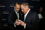Joe Torre and Former New York Rangers Hockey Player Rod Gilbert Trying to Figure Out Why His Camera Phone Is Not Working at 11TH ANNIVERSARY OF THE JOE TORRE SAFE AT HOME FOUNDATION HELD A CHELSEA PIERS SIXTY, NY