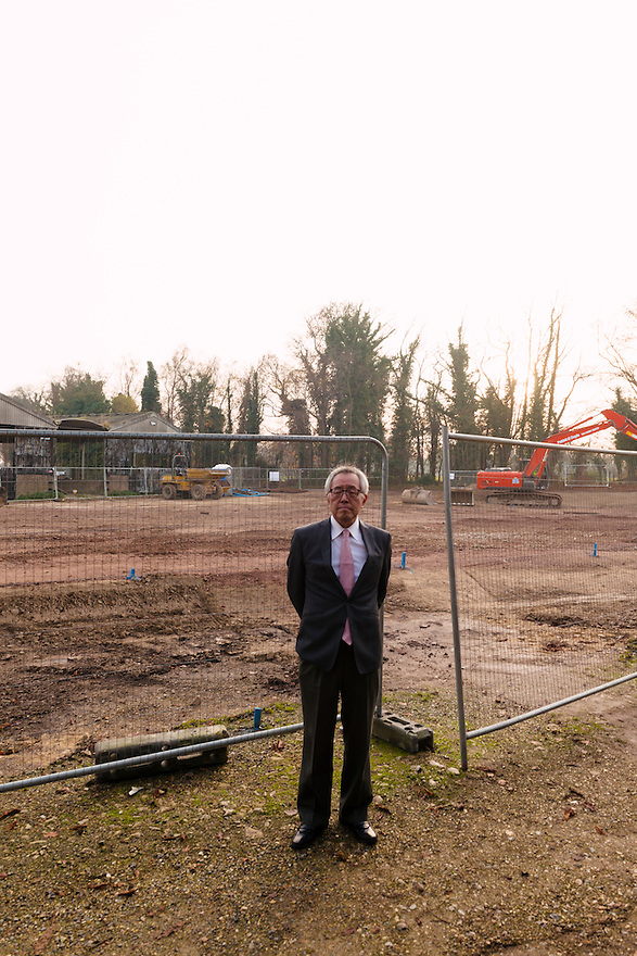 Yoshihide Hashimoto, Managing Director of Dojima Sake Brewery, at the planned site of the new brewery, Ely, UK, December 5, 2016.The Fordham Abbey Estate is set to be the site of the UK's first sake brewery. Work is underway on a new brewery and visitor centre, while the Grade II listed Georgian main house will host Japanese food and sake tasting events.
