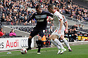 Marcus Haber of Stevenage takes on Shaun Williams of Milton Keynes. MK Dons v Stevenage - npower League 1 - Stadium MK,  Milton Keynes - 20th October, 2012. © Kevin Coleman 2012