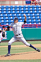 September 6, 2009:  Pitcher Trenton Lare of the Tampa Yankees delivers a pitch during a game at Space Coast Stadium in Melbourne, FL.  The Tampa Yankees are the High Class A Florida State league   affiliate of the New York Yankees;  Photo By Mark LoMoglio/Four Seam Images
