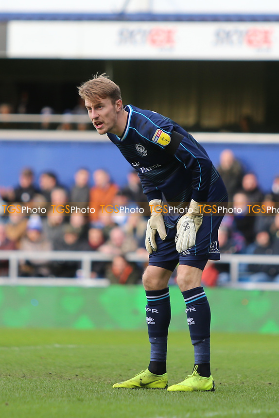Joe Lumley of QPR during Queens Park Rangers vs Birmingham City, Sky Bet EFL Championship Football at Loftus Road Stadium on 9th February 2019
