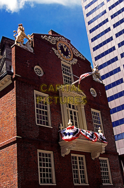 Old State House, Boston, Massachusetts, New England, USA. Oldest public building in Boston