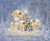 Dona Gelsinger, CHRISTMAS CHILDREN, angels, paintings, 4 angels, tree, can(USGE0002,#XK#) Engel, angeles