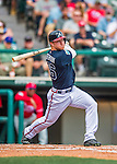 11 March 2016: Atlanta Braves outfielder Dustin Peterson in action during a Spring Training pre-season game against the Philadelphia Phillies at Champion Stadium in the ESPN Wide World of Sports Complex in Kissimmee, Florida. The Phillies defeated the Braves 9-2 in Grapefruit League play. Mandatory Credit: Ed Wolfstein Photo *** RAW (NEF) Image File Available ***