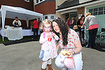Redrow Homes Meet The Neighbours event at Parc Heol Gerrig, Merthyr Tydfil..Local residents Lindsay & Emily Sullivan..25.05.13.©Steve Pope