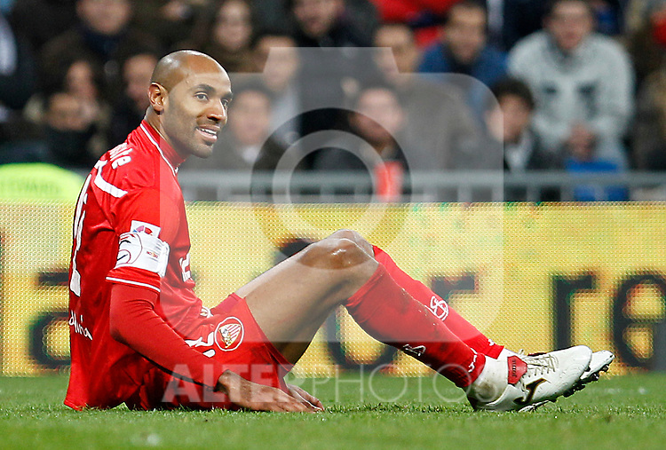 Sevilla's Frederic Kanoute during Spanish King's Cup match.February 2,2011.(ALTERPHOTOS/Acero)