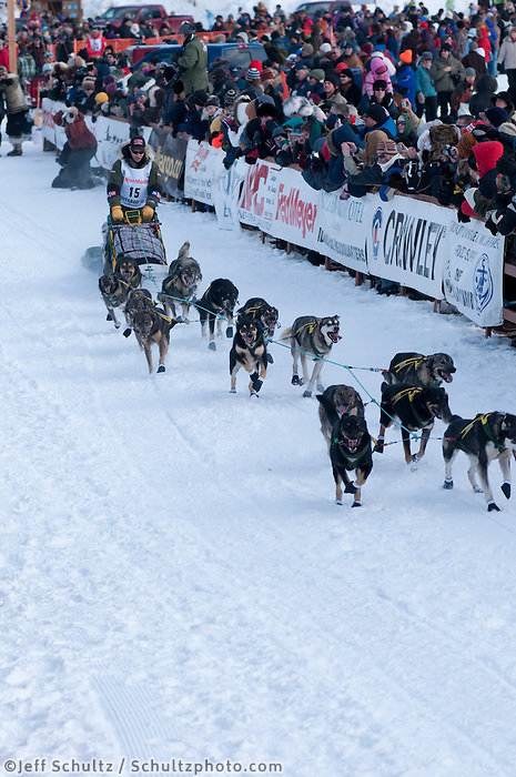 2010, Iditarod, Re-Start, Willow, Alaska, 15, KING, JEFF.