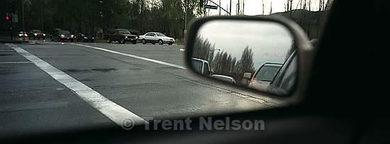 Rear view mirror, traffic<br />