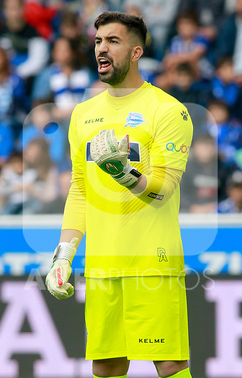 Deportivo Alaves' Fernando Pacheco during La Liga match. October 28,2017. (ALTERPHOTOS/Acero)