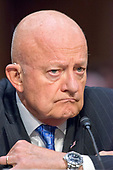 """Former Director of National Intelligence of the United States James R. Clapper testifies before the US Senate Committee on the Judiciary Subcommittee on Crime and Terrorism hearing titled """"Russian Interference in the 2016 United States Election"""" on Capitol Hill in Washington, DC on Monday, May 8, 2017.<br /> Credit: Ron Sachs / CNP<br /> (RESTRICTION: NO New York or New Jersey Newspapers or newspapers within a 75 mile radius of New York City)"""