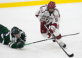 River Rymsha (Dartmouth - 2), Luke Esposito (Harvard - 9) - The Harvard University Crimson defeated the Dartmouth College Big Green 5-2 to sweep their weekend series on Sunday, November 1, 2015, at Bright-Landry Hockey Center in Boston, Massachusetts. -